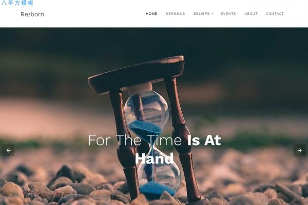 HTML5/CSS3响应式灰色白色教会网站模板