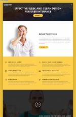 2019年HTML5黄色白色本地企业网站模板