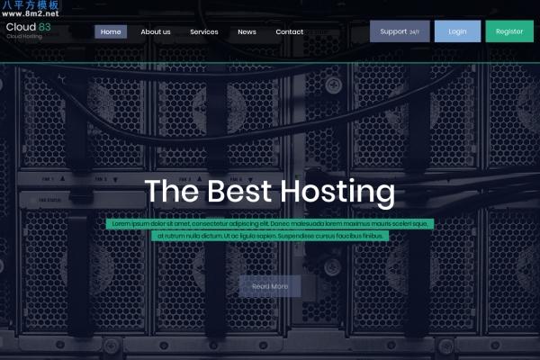 开源bootstrap灰色白色网络托管网站模板