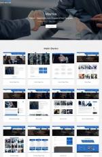 免费开源白色青色商务企业网站模板