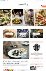 开源精品灰色白色美食博客网站模板