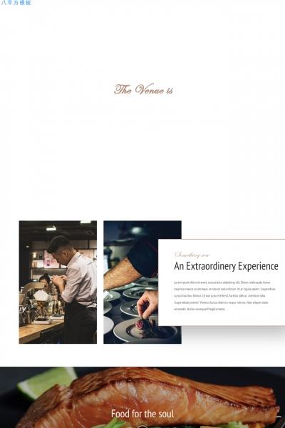 开源2019年浅褐色白色食物/饮料网站模板