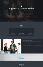HTML5/CSS3灰色白色企业着陆页网站模板