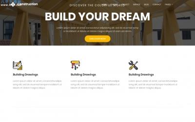 大气bootstrap橘色白色建筑设计网站模板