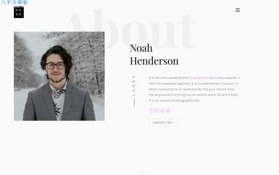 高端bootstrap灰色玫瑰红色个人简历网站模板