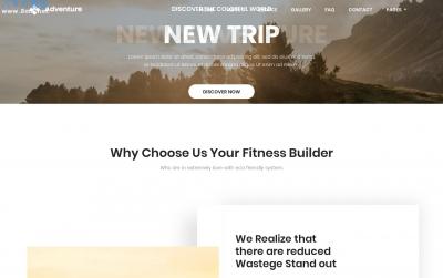 大气精美灰色白色旅行网站模板