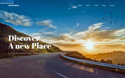 开源2019年白色米色旅游网站模板