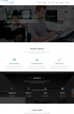 HTML5/CSS3响应式湖水绿白色企业网站模板