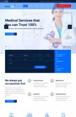 精品HTML5/CSS3深绿色白色医疗网站模板