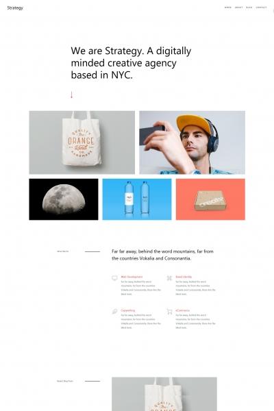 响应式浅灰色白色创意设计企业网站模板