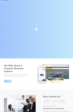 HTML5/CSS3响应式白色绿色企业网站模板