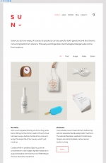 开源大气浅灰色白色项目展示网站模板