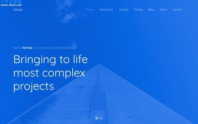 大气HTML5/CSS3湖水绿色建筑企业网站模板