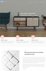 精美响应式灰色白色室内设计网站模板