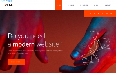 高端HTML5/CSS3深褐色白色商务网站模板