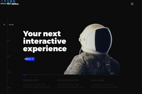 2019年大气浅灰色白色创意企业网站模板
