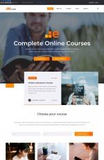 精品响应式湖水绿色灰色教育网站模板