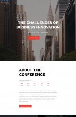大气PC/手机湖水绿色白色会议事件网站模板