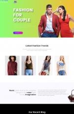 开源2019年白色绿色时尚网站模板
