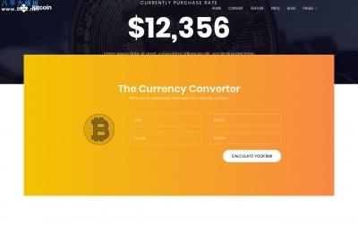 开源精品橘色深绿色比特币金融网站模板