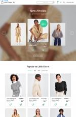免费响应式浅褐色灰色时装商店网站模板