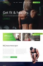 2019年高端深绿色白色健身馆网站模板