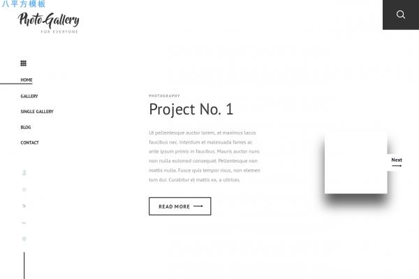 开源精美白色米色摄影整站模板