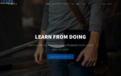 高端精品白色米色教育网站模板