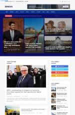 大气PC/手机海蓝色湖水绿色新闻网站模板