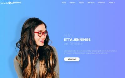 HTML5/CSS3白色米色个人简历整站模板