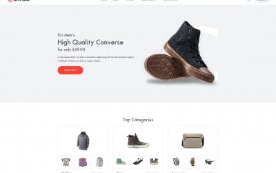 高端bootstrap灰色白色鞋包商城网站模板
