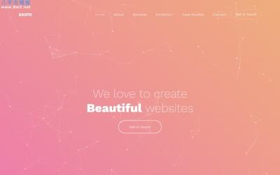 精美响应式活力红色白色创意商业网站模板