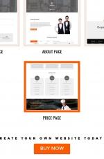 开源高端橘红色湖水绿色餐厅网站模板