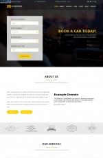 开源PC/手机深褐色白色汽车租赁网站模板