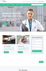 源码bootstrap白色米色医学网站模板