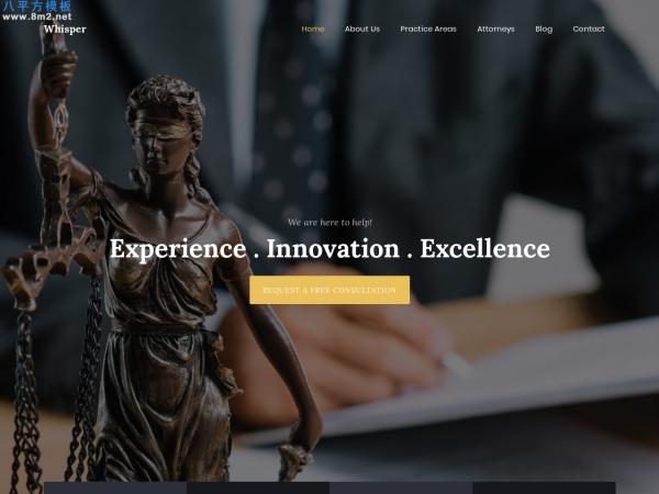高端HTML5/CSS3白色米色律师整站模板