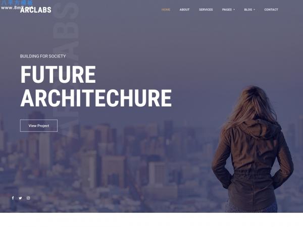大气HTML5/CSS3灰色白色建筑企业整站模板