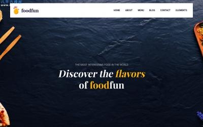 精品响应式海蓝色湖水绿色食品/饮料网站模板