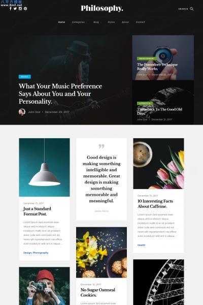 开源2019白色绿色个人旅行时尚博客网站模板