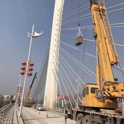 桥梁亮化工程施工现场