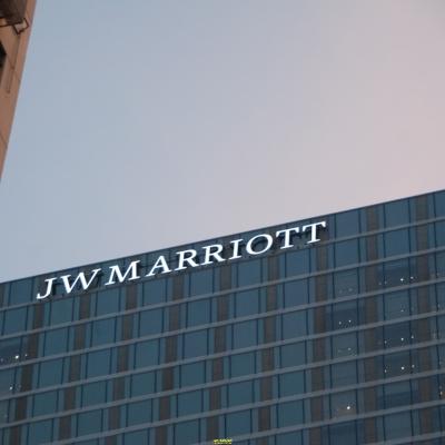 酒店楼顶发光字设计制作