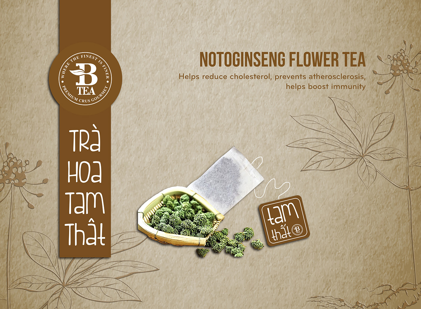 BTEA 越南花茶礼盒9