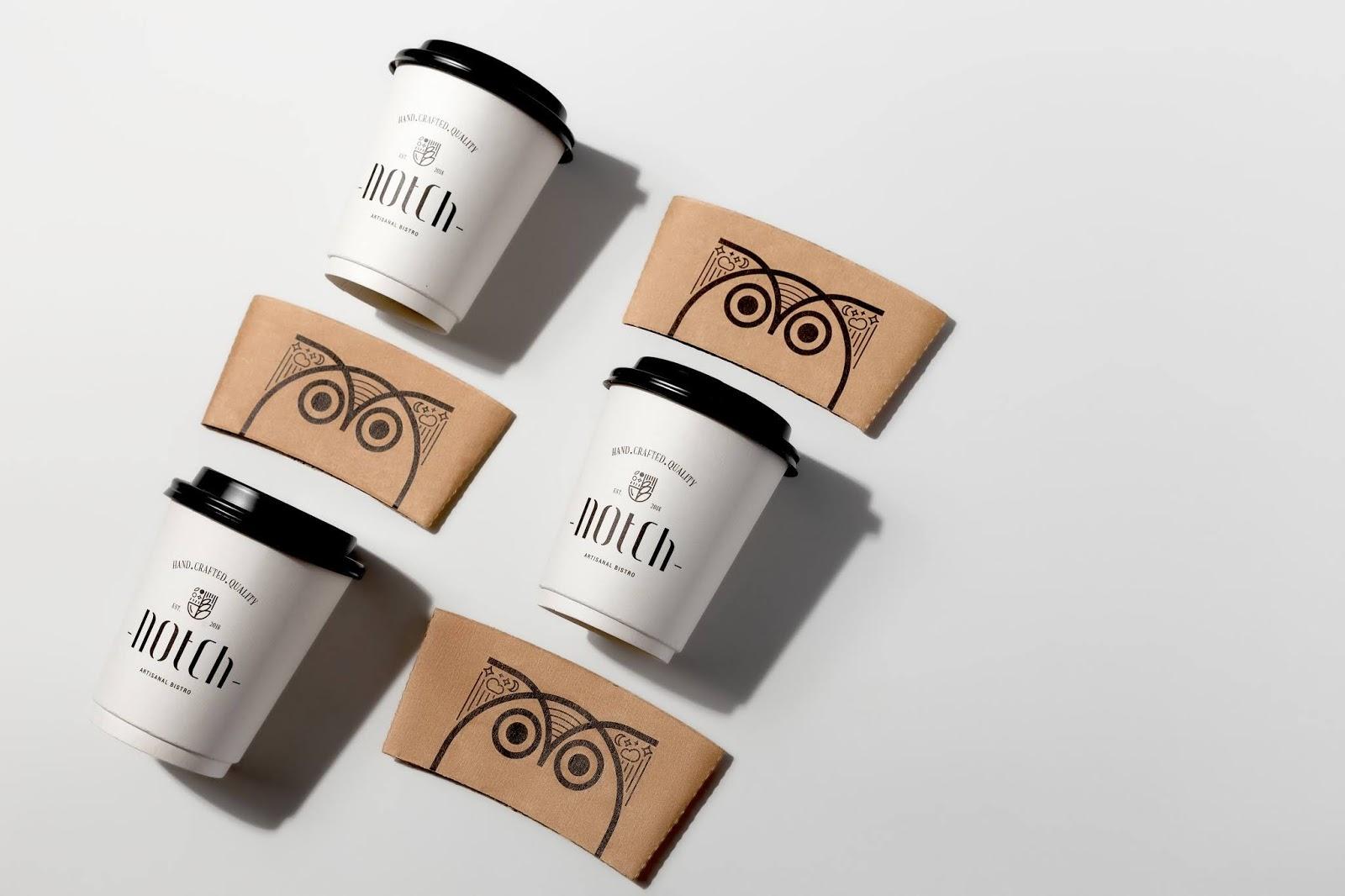 咖啡环保纸杯杯套