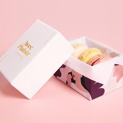 甜品包装_食品白卡_天地盖