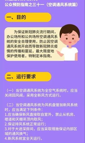 新冠肺炎公众预防指南之三十一(空调通风系统篇)-1