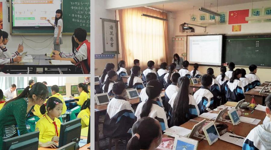 电教设备让课堂富有乐趣,孩子学习专注气氛活跃,老师教的愉快!