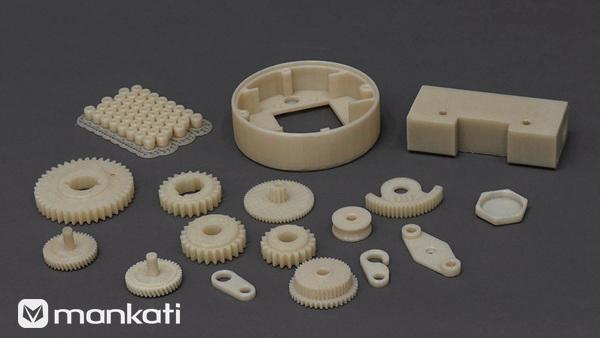 Mankati E180打印各种尺寸样式尼龙耗材