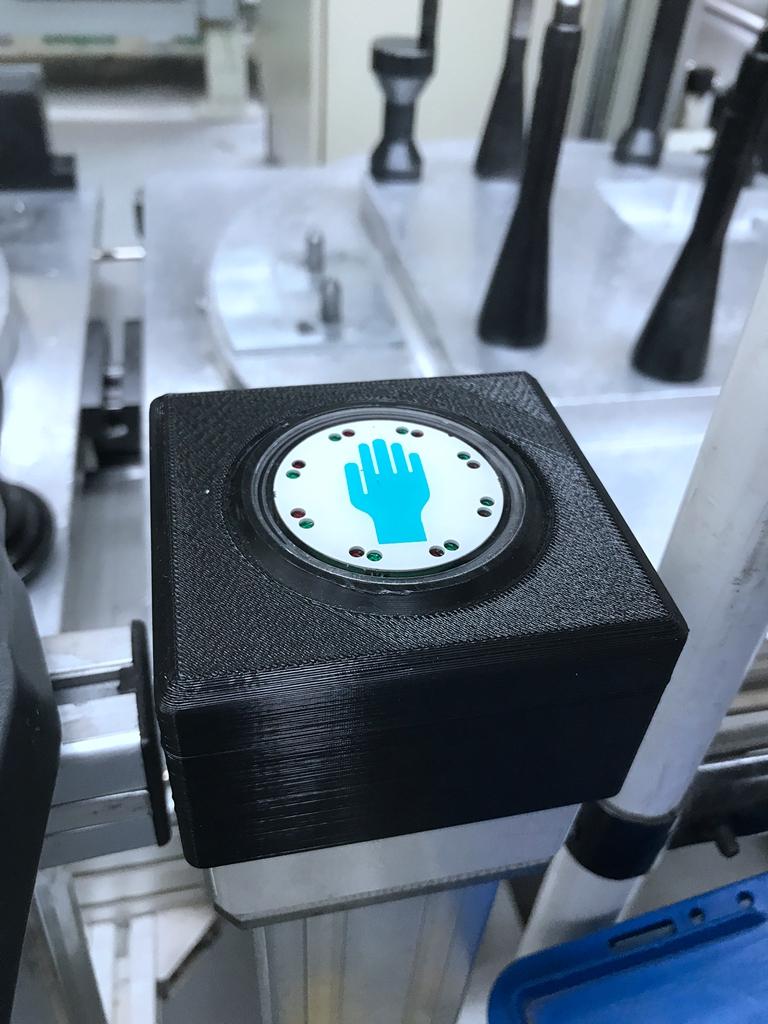 操作按钮用3D打印件进行保护