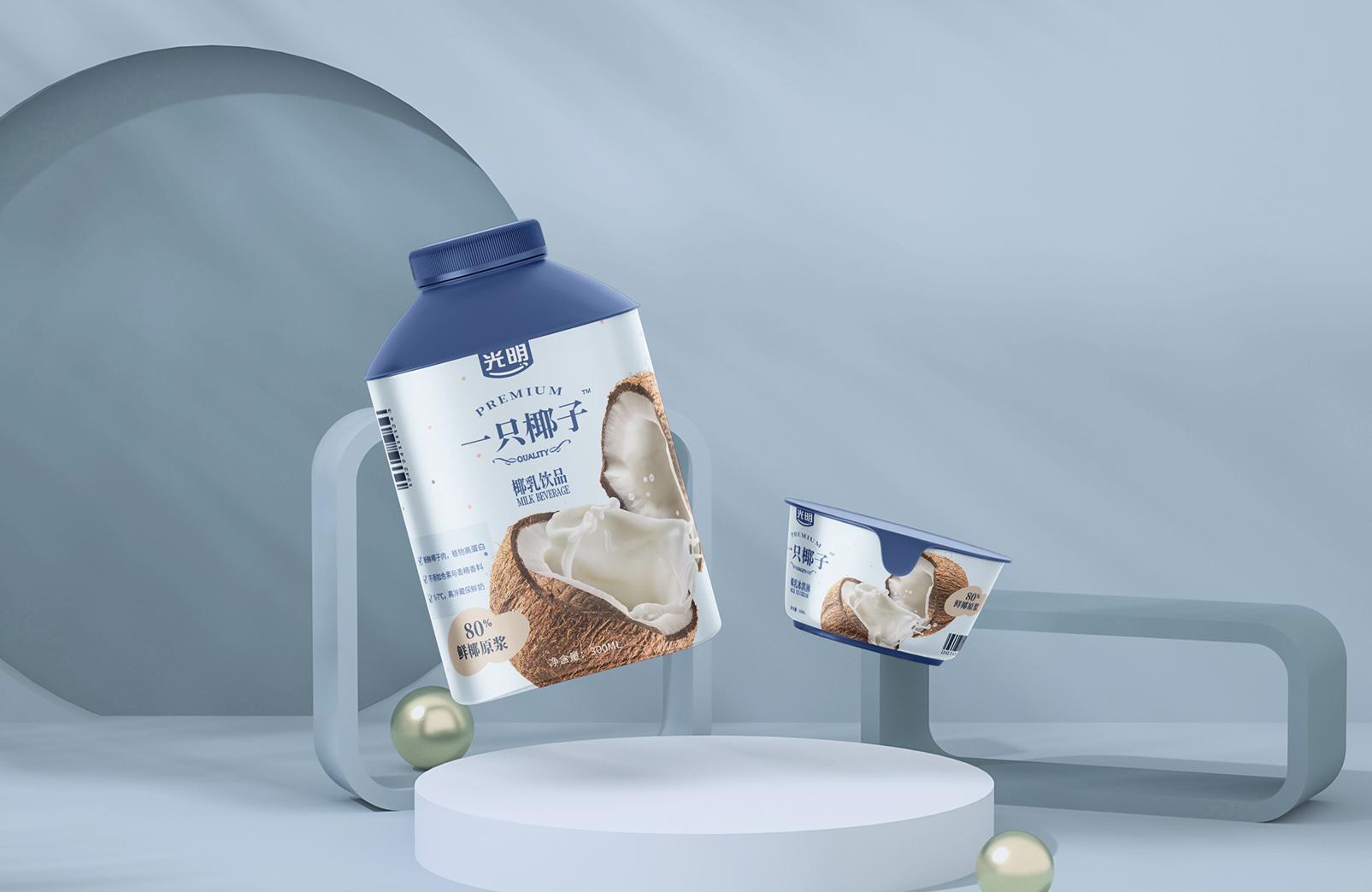 光明一只椰子-食品包装设计-达岸品牌营销咨询