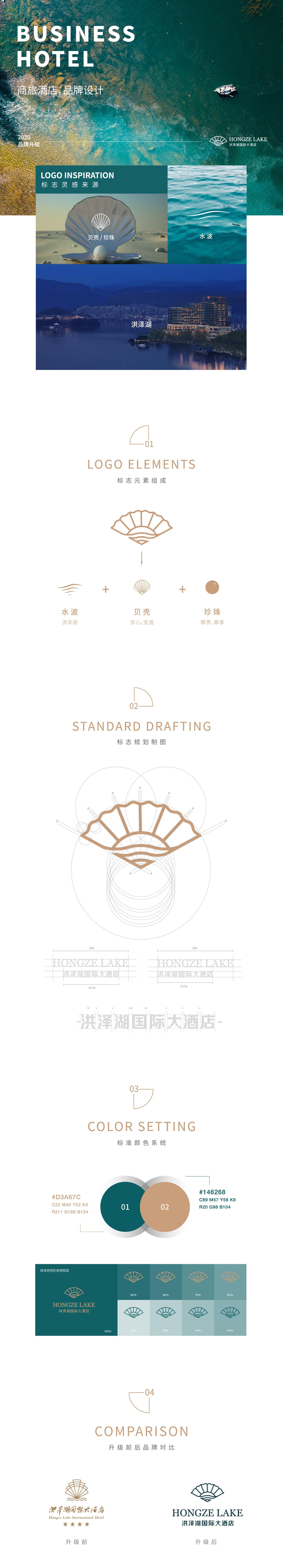 洪泽湖酒店-度假酒店品牌形象设计-杭州品牌设计